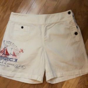 Ralph Lauren White cotton shorts